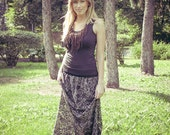 SALE...Gray LACE maxi SKIRT for romantic look- size S/M