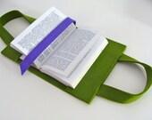 Sac à livre en feutre: vert et violet