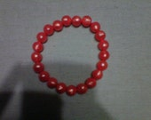 Beaded Orange Stretch Bracelet