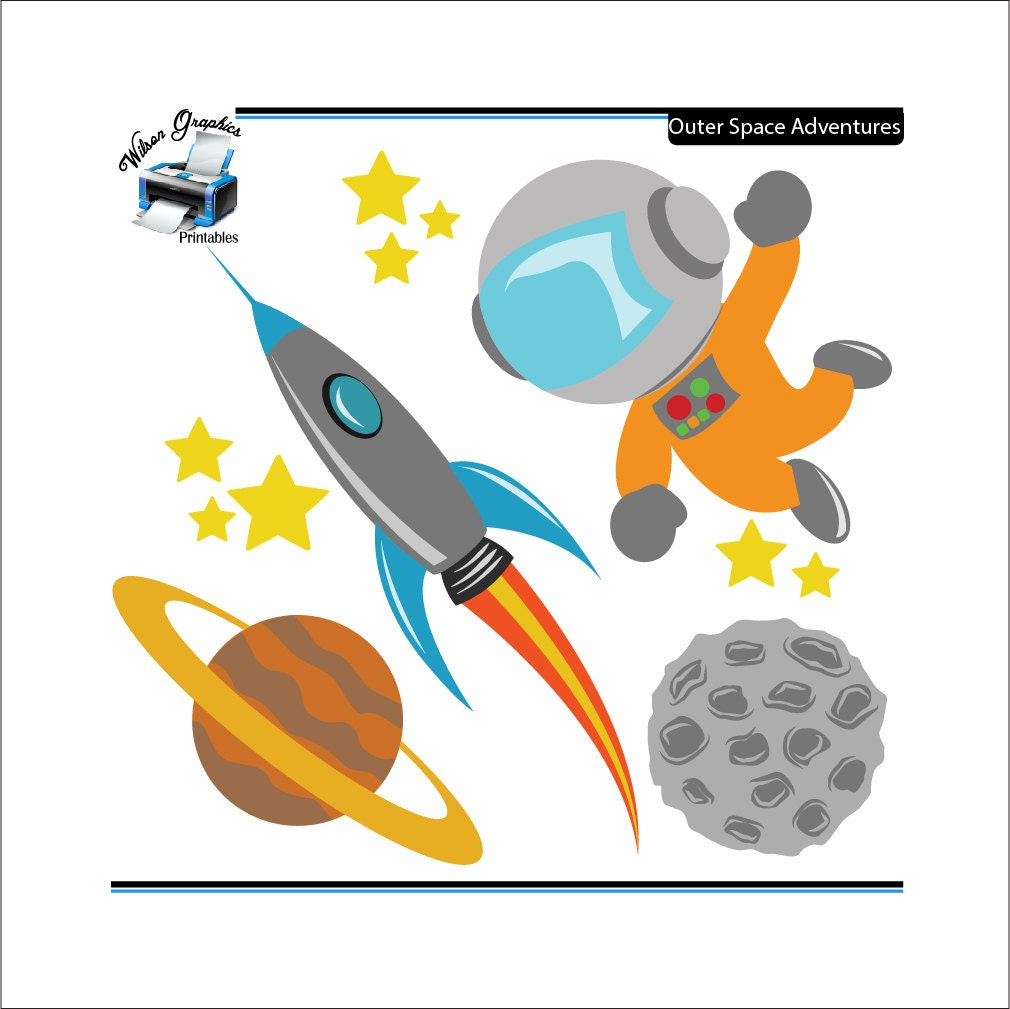 Kid Astronaut Clip Art Outer space adventures clipartKid Astronaut Clip Art