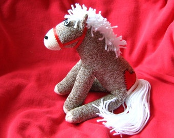 Rockford Red Heel Sock Monkey Pony / Horse - Handmade - New