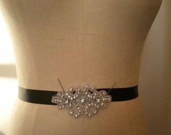 Wedding Belt, Bridal Belt, Bridesmaid Belt, Bridesmaid Belt,, Crystal Rhinestone - Style B159