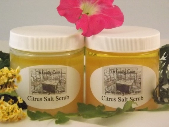 Citrus Salt Scrub- Avocado Oil- Essential Oils- Exfoliation and ...