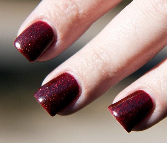 Vampire Nail Polish: Items Similar To Sparkly Vampire Handmade Nail Polish 5ML