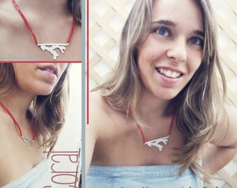 Coral Necklace SterlingSilver - ROOTS Collection