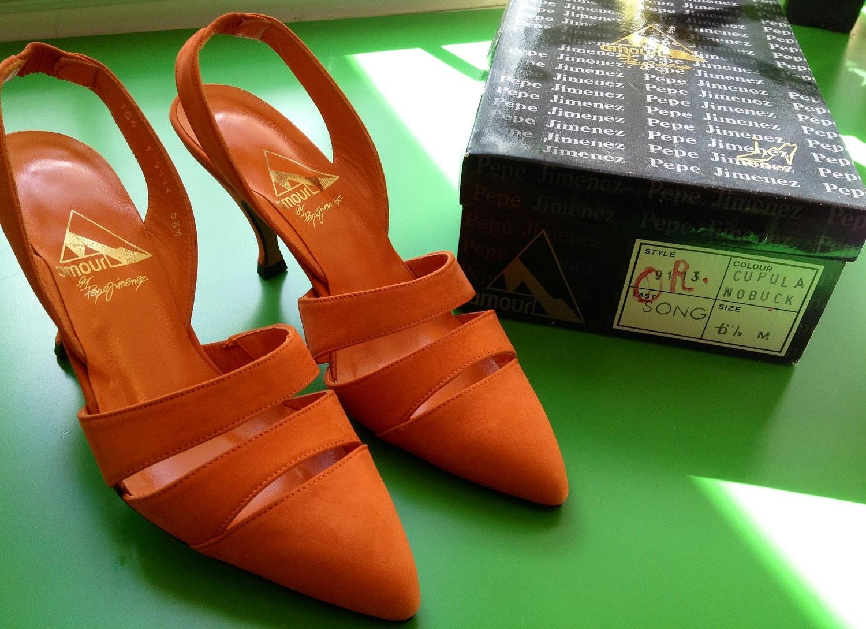 Reserved vintage amour by pepe jimenez orange nubuck - Pepe jimenez ...