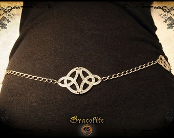 Medieval Celtic knot Women Belt - Handmade jewelry
