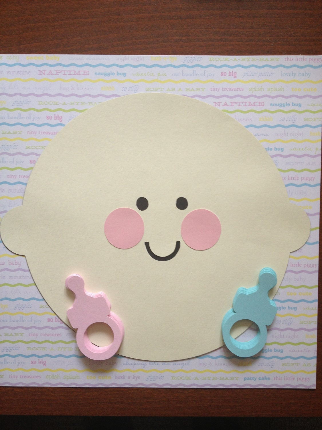 baby shower game pin the pacifier on the baby by lovesweatandglue