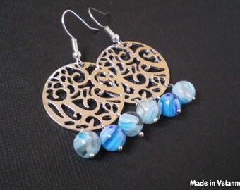 Arabesque earrings and Murano beads