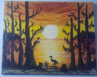 Cajun Sunset Painting