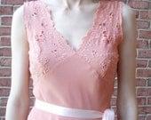 Peach Pie Lace Bodice Bias Cut Dress