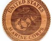 USMC Logo Wooden Fridge Magnet