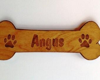 PERSONALIZED Dog Bone Wooden Fridge Magnet