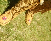 Custom knee high moccasins made to order