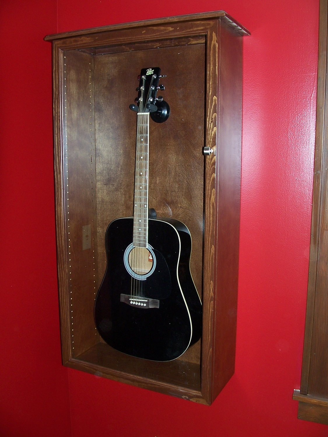 Acoustic Guitar Case Wall Mount Versatile Display Case With