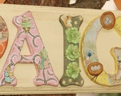Girl Beatrix Potter Name Plaque - Customize Name, Colors and Characters!