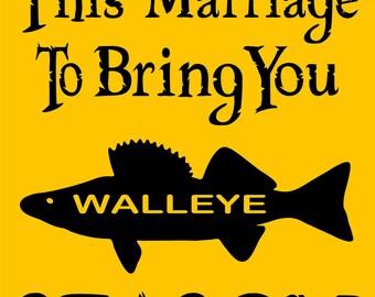 "WALLEYE FISHING SIGN 9""x12"" Aluminum"