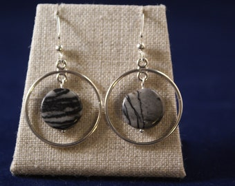 Picasso Jasper Earrings -- the circle period