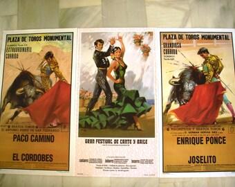 spanish bullfight  poster spain flamenco Vintage