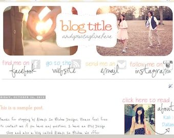 INSTANT DOWNLOAD - Premade Blogger Template - Sunrise