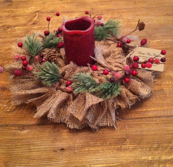 Rustic holiday centerpiece beautiful