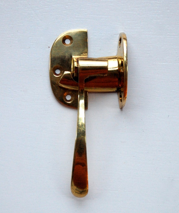 Vintage brass hardware window locks nautical locks door for 007 door locks