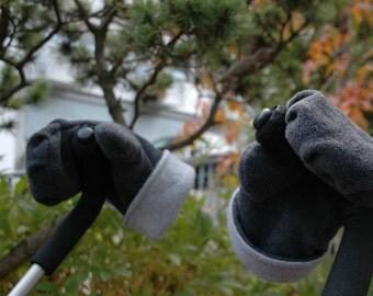 Fausti-the stroller gloves grey Eminez