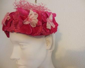 Clover Lane Pink Flowered Hat