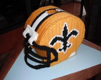 Saints Football Helmet Tissue Box Cover