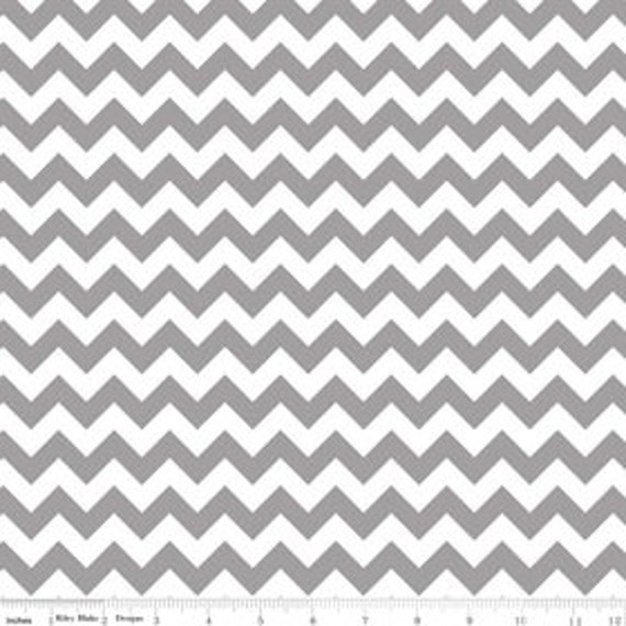 Grey Chevron fabric  by Riley Blake Small Chevron in Grey - HALF YARD