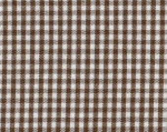"HALF YARD 1/16"" CHOCOLATE Fabric Finders Gingham"