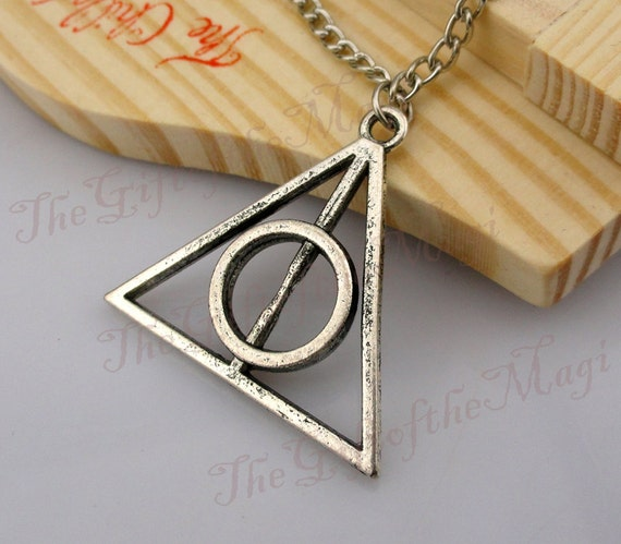 Deathly Hallows Necklace,Harry potter  Necklace--Antique Silver  Necklace----Best Chosen Gift-friendship gift,Personalized Necklace