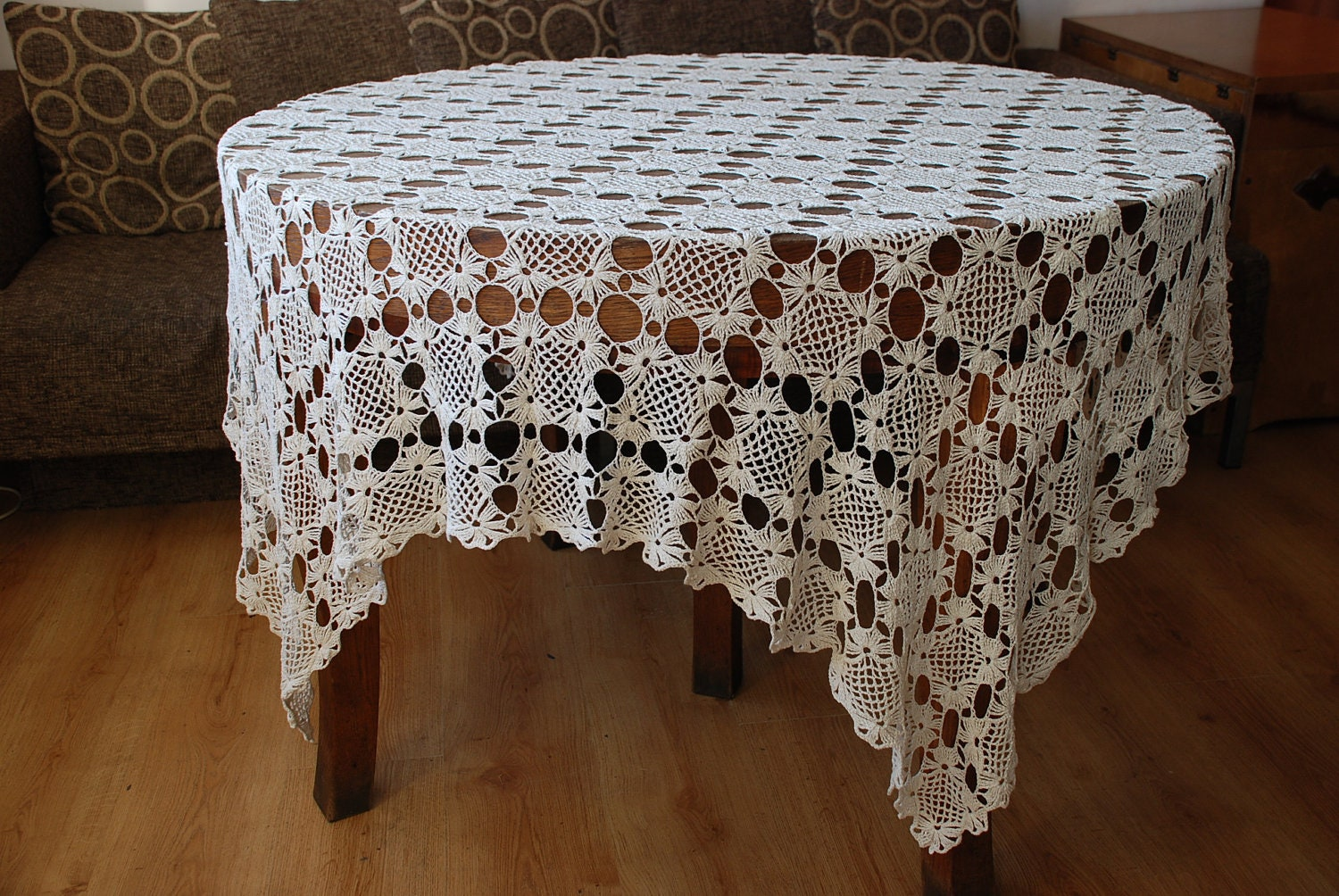 Crochet Tablecloth Linen Tablecloth Crochet Lace Linen