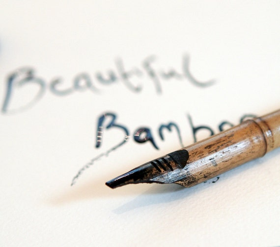 New Hand Carved Bamboo Ink Dip Pen For Drawing Calligraphy
