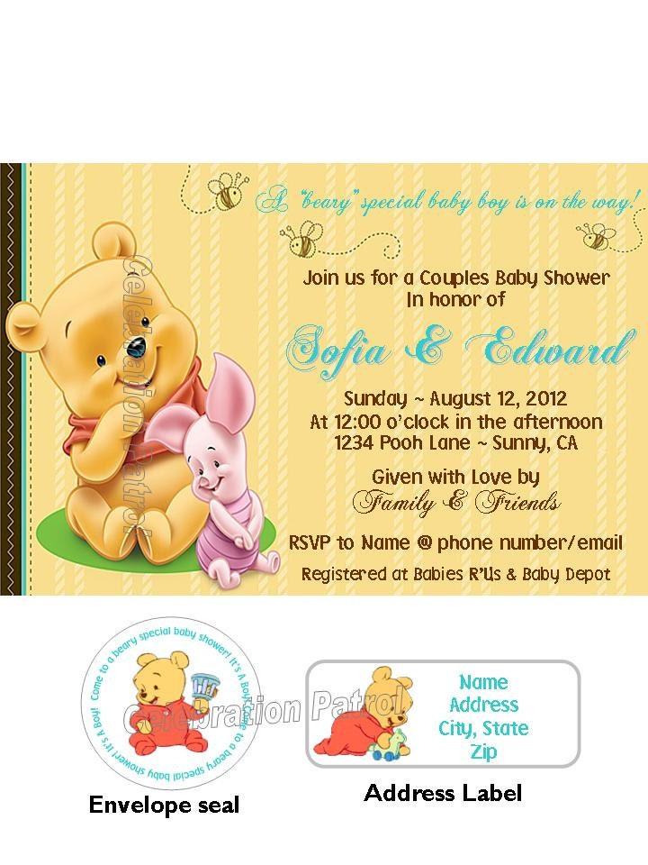 Winnie Pooh Baby Shower Invitations 720 x 960