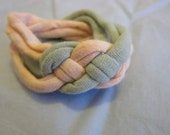 Peach and Green Knotted Bracelet