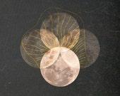 "Full Moon, 12"" x 8"" Digital Illustration, Fine Art Print, Poster, 005 - ThePixelFiles"