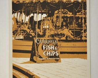 Brighton I - limited edition Artprint/screenprint on paper (24x30cm)