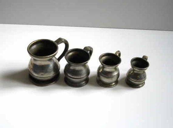 Set Of Three Wine/Spirit Measuring Jugs Plus One Other