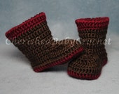 Twisty Top Baby Boots