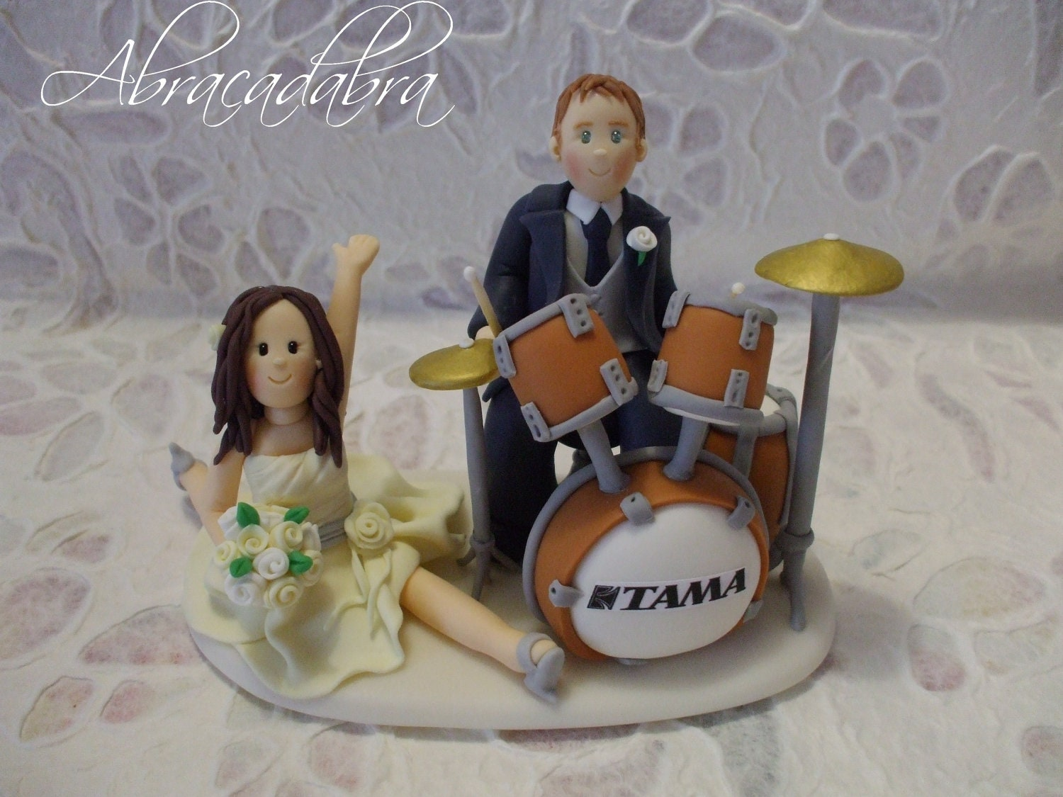 drums wedding cake topper
