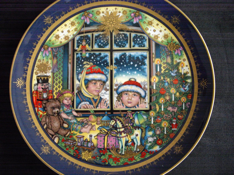 Villeroy boch christmas plate 1991 christmas eve limited for Villeroy and boch christmas
