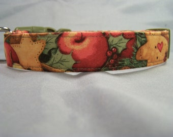 Classic Country Christmas Dog Collar
