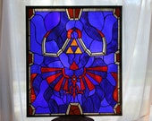 Legend of Zelda - Link's Hylian Shield in Real Stained Glass - Sale