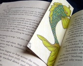Koi fish bookmark OOAK w/ bubbles on opposite side