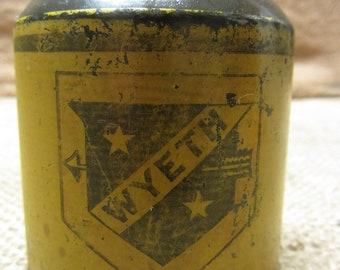 Vintage Metal Wyeth Hardware Oiler - Antique Old Iron Farm Equipment Tractor Primitive Shabby 7590