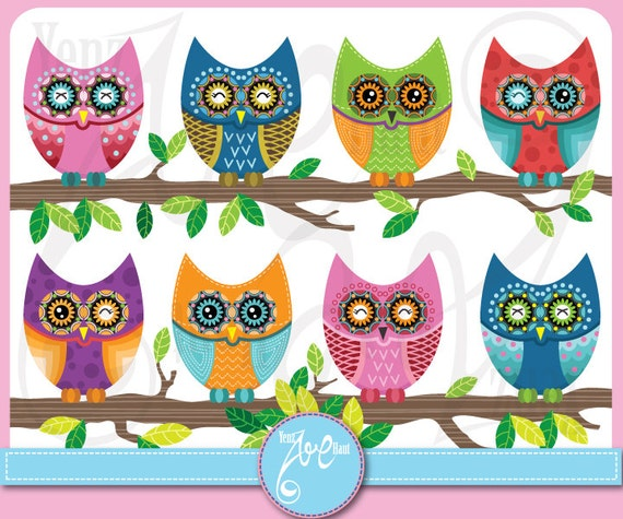 Owl Clipart Owl Clipart Cute Colorful Owl Personal And Small