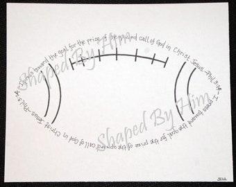 Football - Phil. 3:14 - 8x10