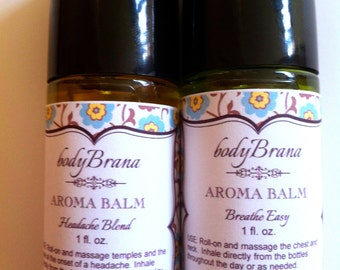 Hands Free roll on organic healing balms and Massage Oils--VEGAN