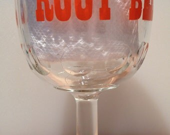 1970's goblet style root beer glass